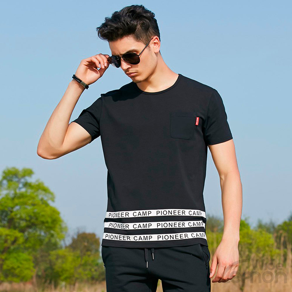 White And Black Short Sleeve T-shirt