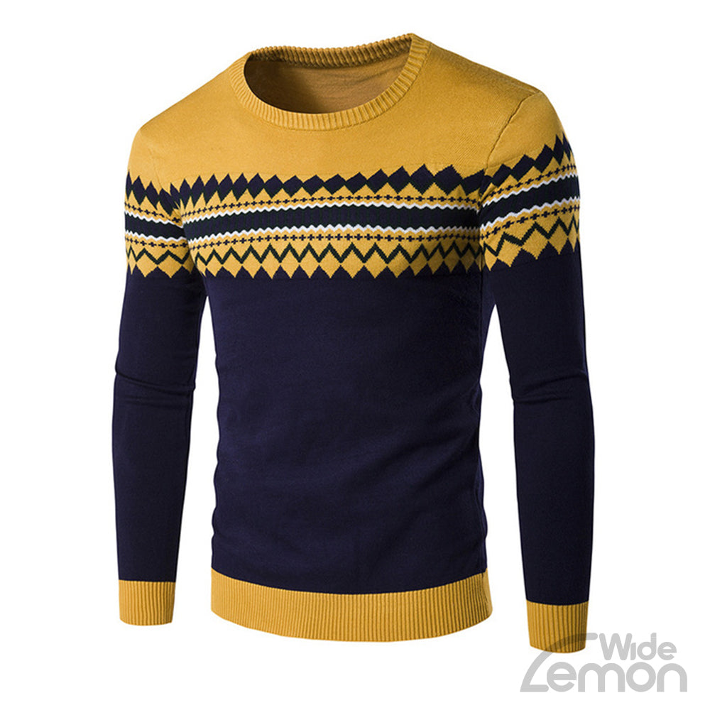 Yellow Long Sleeve Casual Knitwear