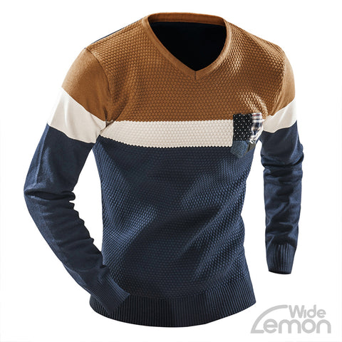 V-Neck Long Sleeve Knitwear