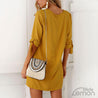 Short & Wide Yellow Dress