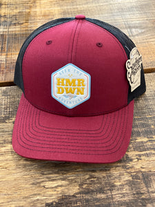 "*Hammer Down ""Seek The Adventure Shield"" 112 Trucker Hat Cardinal/Black Adult"
