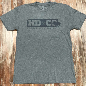 "Hammer Down ""HDCO Hog"" Short Sleeve Tee Grey Adult Unisex"