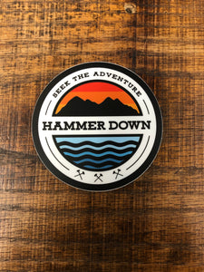 "Hammer Down ""Seek The Adventure"" Sticker"