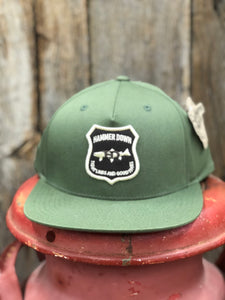 "Hammer Down ""HD Trout Badge"" 055 Trucker Hat Army Green Adult"