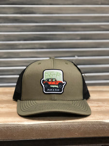 "Southern Charm ""SC Jeep Pop A Top Patch"" 112 Trucker Hat Loden/Black Adult"