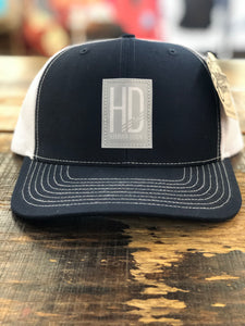 "Hammer Down ""Basic HD Logo"" 112 Trucker Hat Navy and White"