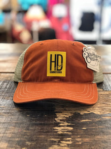 "Hammer Down ""Basic HD Logo"" 111 Trucker Hat Texas Orange and Khaki"