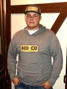 "Hammer Down ""HDCO"" Hoodie Sweatshirt Grey/ Honey Adult Unisex"