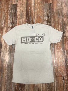 "Hammer Down ""HDCO Deer"" Short Sleeve Tee Heather Grey Adult Unisex"
