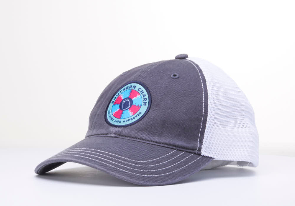 "Southern Charm ""SC Spinwheel"" 111 Trucker Hat Charcoal/White Patch Adult"