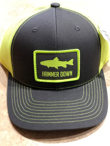 "Hammer Down ""Trout"" 112 Trucker Hat Neon Yellow Adult"