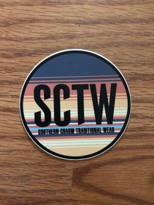 "Southern Charm""Sunset Circle"" Sticker 4 inches"