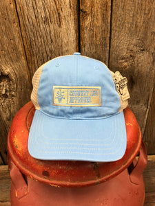 "Southern Charm ""SCTW CLA Patch"" 111 Trucker Hat Columbia Blue/Khaki Adult"