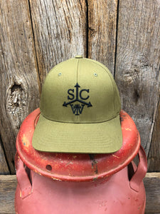 "Southern Charm ""SCTW Cattle Brand"" 185 Flex Fit Hat Olive/Black Adult"