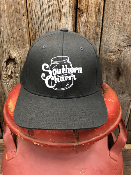 "Southern Charm ""SC Original Logo"" 185 Flex Fit Hat Charcoal/White Adult"