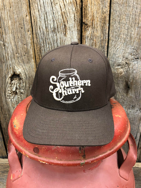 "Southern Charm ""SC Original Logo"" 185 Flex Fit Hat Brown/Khaki Adult"
