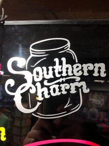 "Southern Charm ""Original Logo"" Sticker in Silver - 6 inch"