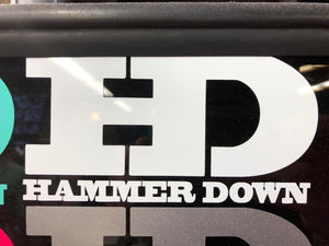 "Hammer Down ""Original Logo"" Sticker in White - 6 inch"