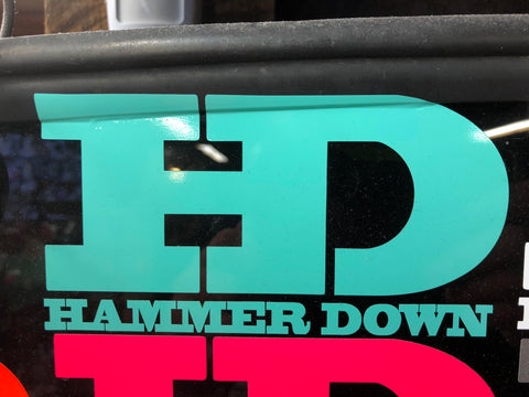 "Hammer Down ""Original Logo"" Sticker in Mint - 6 inch"