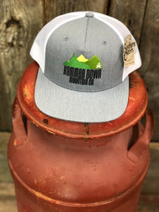 "Hammer Down ""HD Mtn Co Fire Mtn"" O55 Trucker Hat Heather Grey/White Adult"