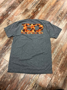 "Hammer Down ""Warm Camo"" Short Sleeve Tee GrayAdult Unisex"