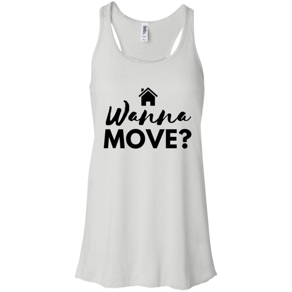Wanna Move  Flowy Racerback Tank