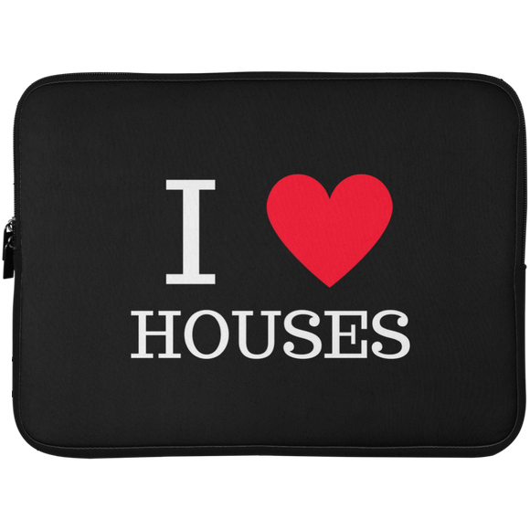 I love houses Laptop Sleeve - 15 Inch