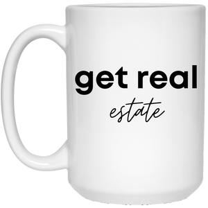 6 21504 15 oz. White Mug Real Estate