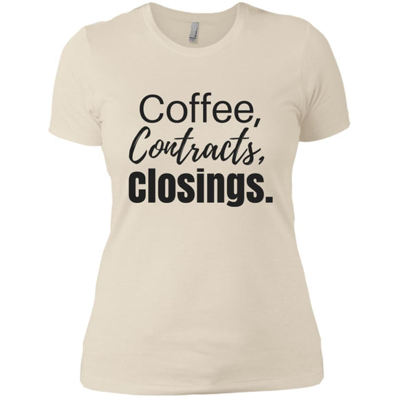Coffee Contracts Closings Ladies' Boyfriend T-Shirt