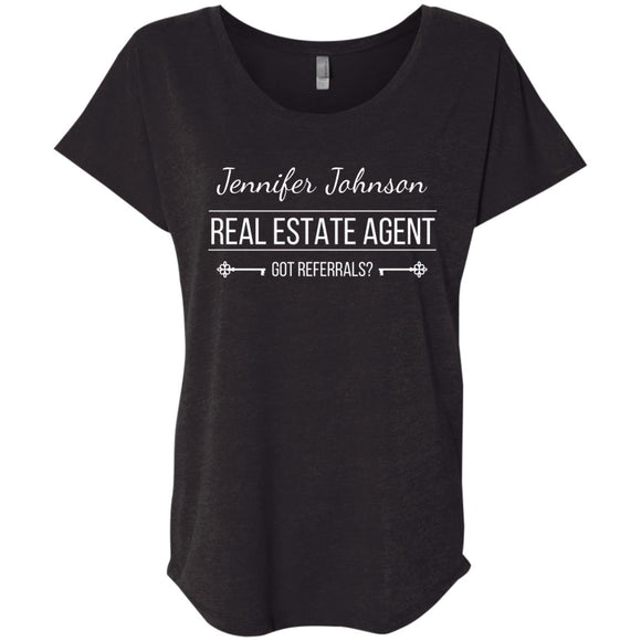 Customizable Real Estate Agent Shirt Ladies' Loose Fit Shirt