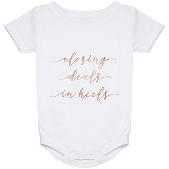 Closing Deals In Heels Baby Onesie 24 Month
