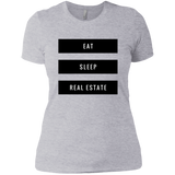 Eat Sleep Real Estate Ladies' Boyfriend T-Shirt
