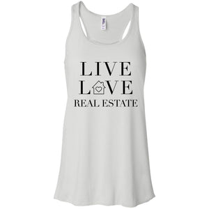 Live Love Real Estate Flowy Racerback Tank