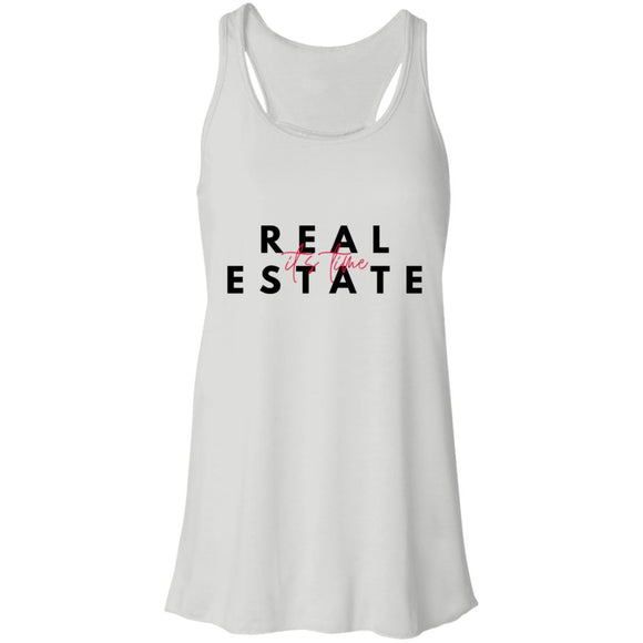 Real Estate It's Time B8800 Flowy Racerback Tank