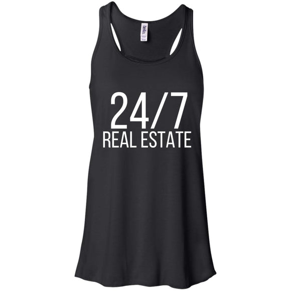 24 / 7 REAL ESTATE Flowy Racerback Tank