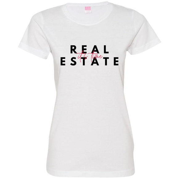 Real Estate It's Time 3516 Ladies' Fine Jersey T-Shirt