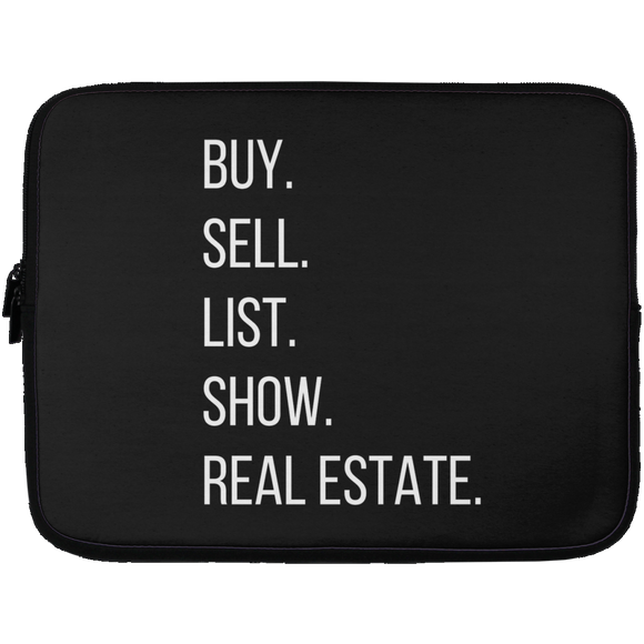 BUY SELL LIST SHOW REAL ESTATE Laptop Sleeve - 13 inch