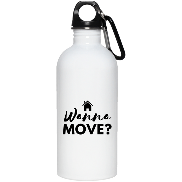 Wanna Move 23663 20 oz. Stainless Steel Water Bottle