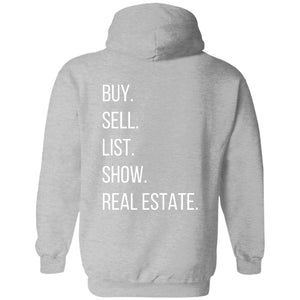 BUY SELL LIST SHOW REAL ESTATE Pullover Sweatshirt