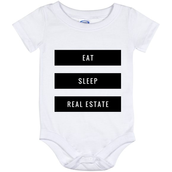 Eat Sleep Real Estate Baby Onesie 12 Month