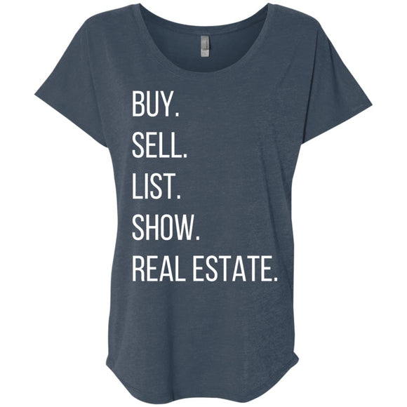 BUY SELL LIST SHOW REAL ESTATE Ladies' Loose Fit Shirt