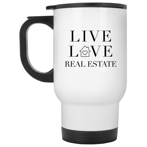 LIVE LOVE REAL ESTATE XP8400W White Travel Mug