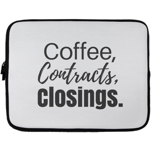 Coffee Contracts Closings Laptop Sleeve - 13 inch