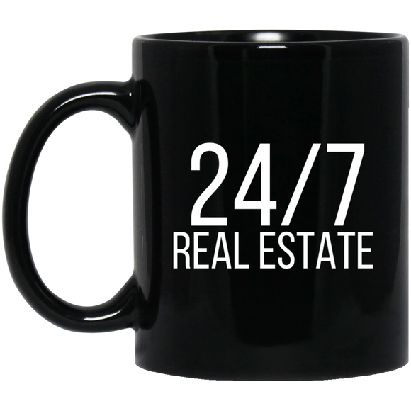 24 / 7 REAL ESTATE 11 oz. Black Mug