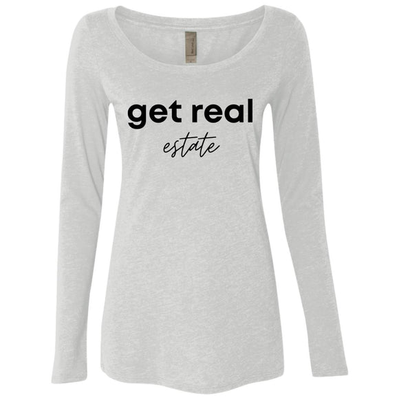 Get Real Estate NL6731 Ladies' Triblend LS Scoop