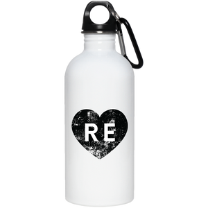 Heart R E 23663 20 oz. Stainless Steel Water Bottle
