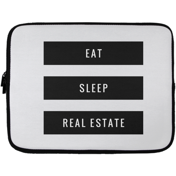 Eat Sleep Real Estate Laptop Sleeve - 13 inch