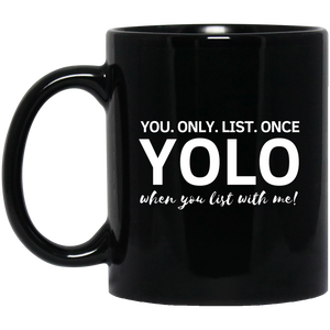 YOLO 11 oz. Black Mug