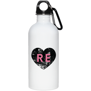 Heart R E (Pink) 23663 20 oz. Stainless Steel Water Bottle
