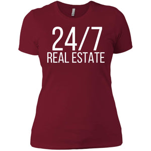 24 / 7 REAL ESTATE Ladies' Boyfriend T-Shirt